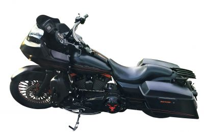"""8"""" BLITZKREIG 1-1/2 DRAG BARS FOR 2014 AND BELOW ROAD GLIDE"""