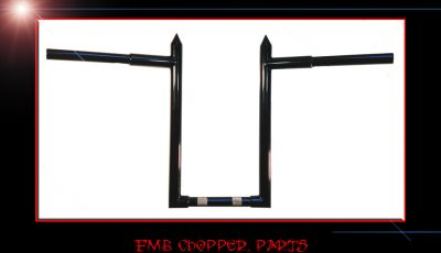 "16"" HIGH BY NOON SPIKED CUSTOM MADE APEHANGER HANDLEBARS"